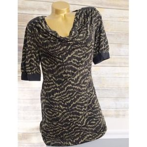 Trina Turk short sleeve cowl neck dress